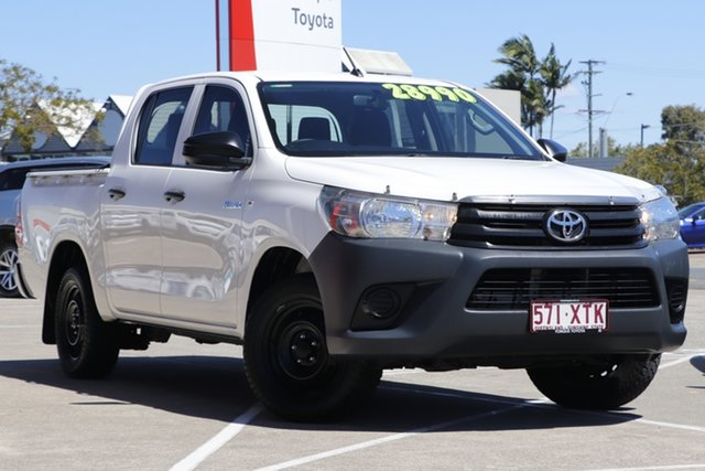 Pre-Owned Toyota Hilux TGN121R Workmate Double Cab 4x2 Albion, 2017 Toyota Hilux TGN121R Workmate Double Cab 4x2 Glacier White 6 Speed Sports Automatic Utility
