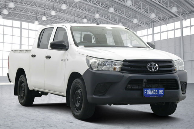 Used Toyota Hilux TGN121R Workmate Double Cab 4x2 Victoria Park, 2015 Toyota Hilux TGN121R Workmate Double Cab 4x2 White 6 Speed Sports Automatic Utility