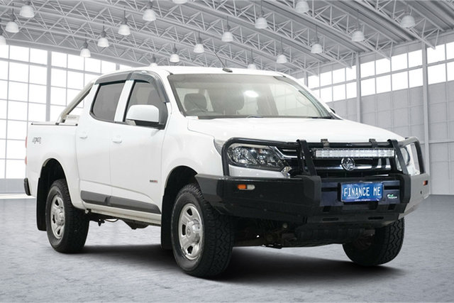 Used Holden Colorado RG MY18 LS Pickup Crew Cab Victoria Park, 2018 Holden Colorado RG MY18 LS Pickup Crew Cab White 6 Speed Sports Automatic Utility