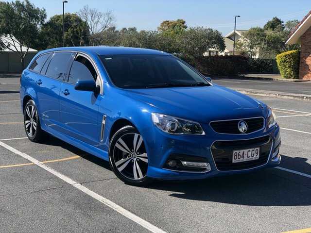 Used Holden Commodore VF MY15 SV6 Sportwagon Storm Chermside, 2015 Holden Commodore VF MY15 SV6 Sportwagon Storm Blue 6 Speed Sports Automatic Wagon