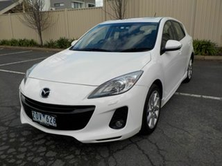 2012 Mazda 3 BL 11 Upgrade SP25 White 6 Speed Manual Hatchback.
