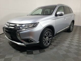 2016 Mitsubishi Outlander ZK MY16 XLS 2WD Cool Silver 6 Speed Constant Variable Wagon.