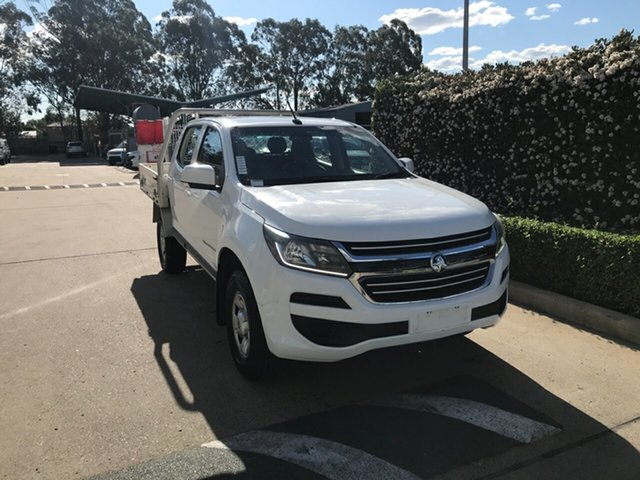 Used Holden Colorado RG MY18 LS Crew Cab Acacia Ridge, 2018 Holden Colorado RG MY18 LS Crew Cab White 6 speed Automatic Cab Chassis