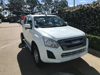 2019 Isuzu D-MAX MY18 SX Crew Cab 4x2 High Ride White 6 speed Automatic Cab Chassis.