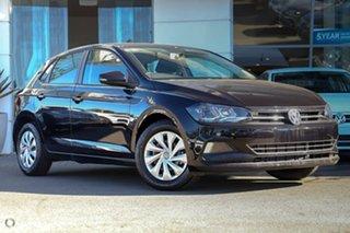 2021 Volkswagen Polo AW MY21 70TSI DSG Trendline Deep Black Pearl Effect 7 Speed.