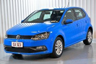2014 Volkswagen Polo 6R MY15 81TSI DSG Comfortline Blue 7 Speed Sports Automatic Dual Clutch.