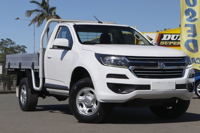Used Holden Colorado RG MY17 LS 4x2 Rocklea, 2016 Holden Colorado RG MY17 LS 4x2 Summit White 6 Speed Manual Cab Chassis