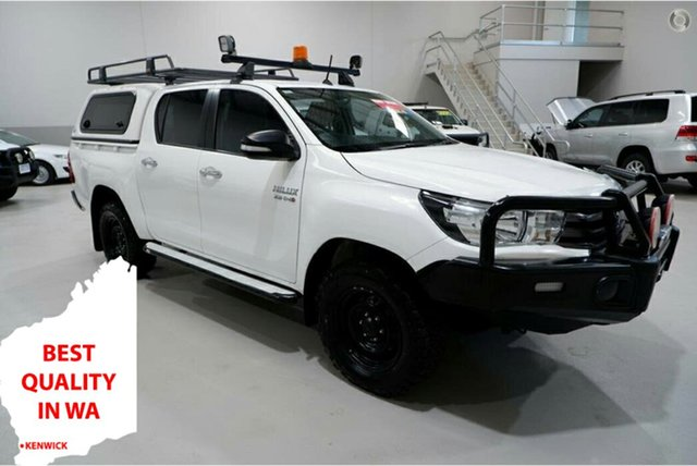 Used Toyota Hilux GUN126R SR Double Cab Kenwick, 2017 Toyota Hilux GUN126R SR Double Cab White 6 Speed Sports Automatic Utility