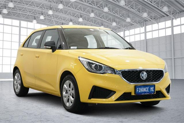 Used MG MG3 SZP1 MY20 Core Victoria Park, 2020 MG MG3 SZP1 MY20 Core Tudor Yellow 4 Speed Automatic Hatchback