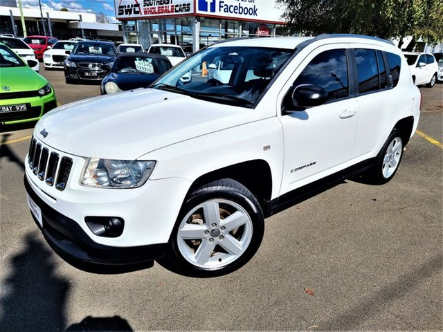 Used Jeep Compass MK MY13 Limited CVT Auto Stick Seaford, 2013 Jeep Compass MK MY13 Limited CVT Auto Stick White 6 Speed Constant Variable Wagon
