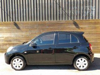 2013 Nissan Micra K13 MY13 ST-L Black 4 Speed Automatic Hatchback