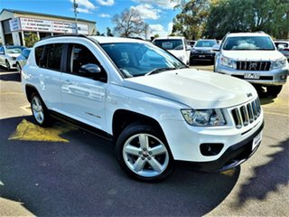 2013 Jeep Compass MK MY13 Limited CVT Auto Stick White 6 Speed Constant Variable Wagon.