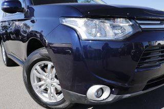 2012 Mitsubishi Outlander ZJ MY13 LS 4WD Sapphire Blue 6 Speed Constant Variable Wagon.