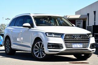 2017 Audi Q7 4M MY17 TDI Tiptronic Quattro White 8 Speed Sports Automatic Wagon.