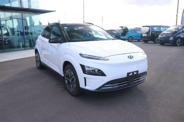 New Hyundai Kona Os.v4 MY21 electric Highlander Augustine Heights, 2021 Hyundai Kona Os.v4 MY21 electric Highlander Atlas White & Black Roof 1 Speed Reduction Gear