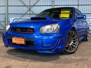 2004 Subaru Impreza S MY04 WRX AWD Blue 4 Speed Sports Automatic Sedan.