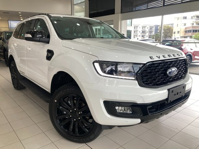 New Ford Everest Sport Cardiff, 2021 Ford Everest UA II Sport Arctic White 6 Speed Automatic SUV