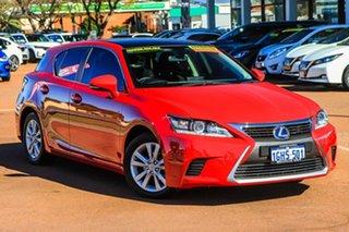 2017 Lexus CT ZWA10R MY16 CT200h Luxury Red 1 Speed Constant Variable Hatchback Hybrid.
