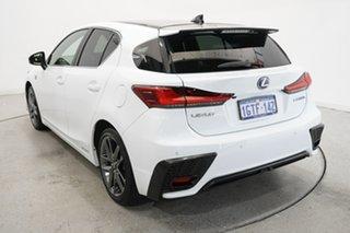 2019 Lexus CT ZWA10R CT200h F Sport White 1 Speed Constant Variable Hatchback Hybrid.