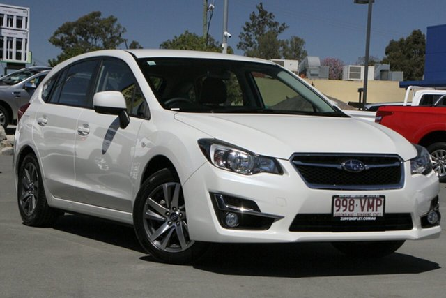 Used Subaru Impreza G4 MY15 2.0i Lineartronic AWD Premium Aspley, 2015 Subaru Impreza G4 MY15 2.0i Lineartronic AWD Premium White 6 Speed Constant Variable Hatchback