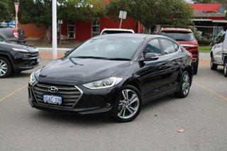 2016 Hyundai Elantra AD MY17 Active Black 6 Speed Sports Automatic Sedan.