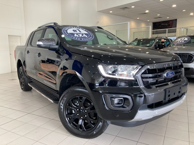 Demo Ford Ranger PX MkIII 2021.75MY Wildtrak Cardiff, 2021 Ford Ranger PX MkIII 2021.75MY Wildtrak Shadow Black 10 Speed Sports Automatic