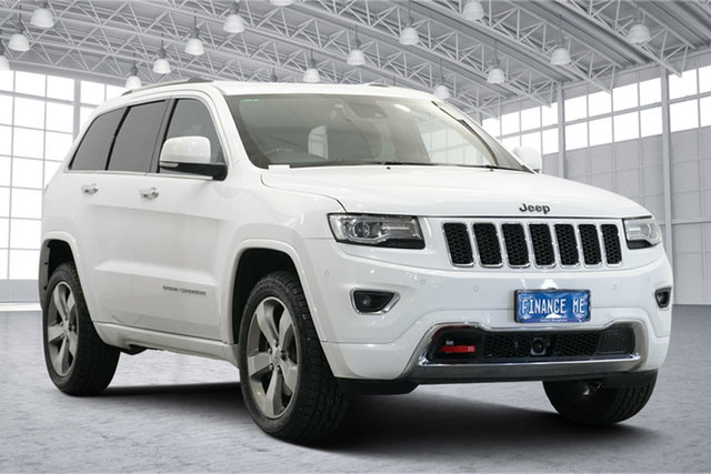 Used Jeep Grand Cherokee WK MY2014 Overland Victoria Park, 2014 Jeep Grand Cherokee WK MY2014 Overland Bright White 8 Speed Sports Automatic Wagon