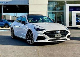 2021 Hyundai Sonata DN8.V1 MY21 N Line White Cream 8 Speed Auto Dual Clutch Sedan.