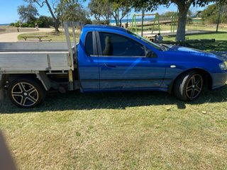 2007 Ford Falcon BF Mk II XL Super Cab Blue 4 Speed Automatic Cab Chassis.