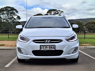 2016 Hyundai Accent RB3 MY16 SR White 6 Speed Sports Automatic Hatchback.