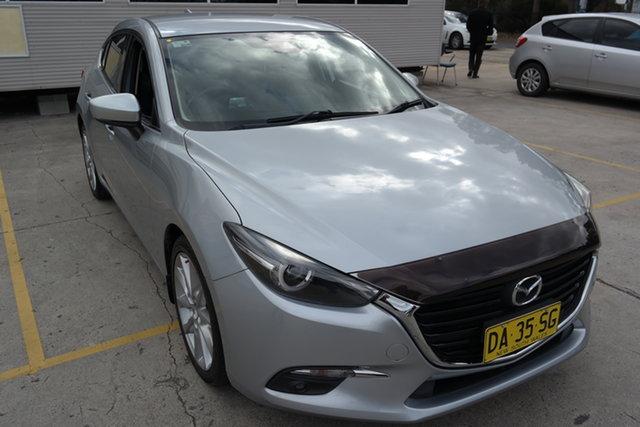 Used Mazda 3 BN5438 SP25 SKYACTIV-Drive GT Maryville, 2017 Mazda 3 BN5438 SP25 SKYACTIV-Drive GT Silver 6 Speed Sports Automatic Hatchback