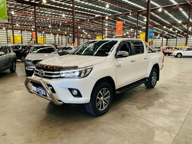 Used Toyota Hilux GUN126R SR5 Double Cab Canning Vale, 2015 Toyota Hilux GUN126R SR5 Double Cab White 6 Speed Sports Automatic Utility
