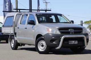 2006 Toyota Hilux TGN16R MY07 Workmate 4x2 Sterling Silver 5 Speed Manual Utility.