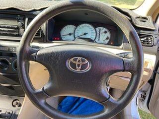 2004 Toyota Corolla ZZE122R 5Y Ascent White 4 Speed Automatic Sedan
