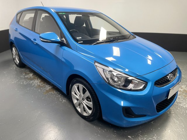 Used Hyundai Accent RB6 MY18 Sport Rutherford, 2018 Hyundai Accent RB6 MY18 Sport Blue 6 Speed Sports Automatic Hatchback