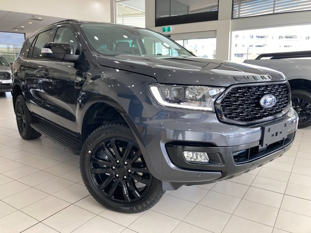 New Ford Everest Sport Cardiff, 2021 Ford Everest UA II Sport Meteor Grey 6 Speed Automatic SUV