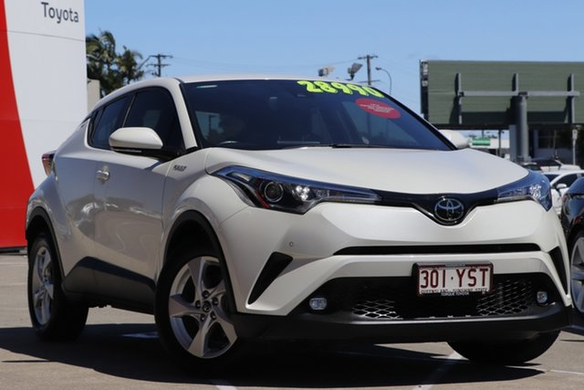 Pre-Owned Toyota C-HR NGX10R S-CVT 2WD Albion, 2018 Toyota C-HR NGX10R S-CVT 2WD Crystal Pearl 7 Speed Constant Variable Wagon