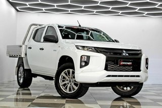 2019 Mitsubishi Triton MR MY19 GLX (4x4) White 6 Speed Automatic Double Cab Pick Up.