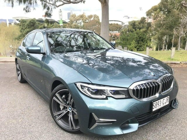 Used BMW 3 Series G20 330i Steptronic Luxury Line Adelaide, 2020 BMW 3 Series G20 330i Steptronic Luxury Line Blue 8 Speed Sports Automatic Sedan