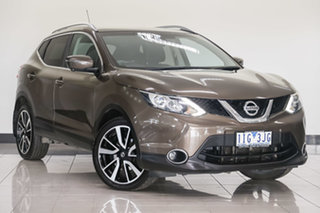 2016 Nissan Qashqai J11 ST Brown 1 Speed Constant Variable Wagon.