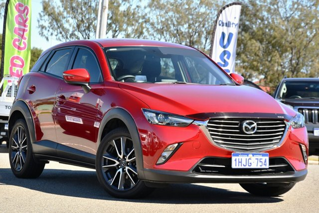 Used Mazda CX-3 DK2W7A sTouring SKYACTIV-Drive Clarkson, 2017 Mazda CX-3 DK2W7A sTouring SKYACTIV-Drive Red 6 Speed Sports Automatic Wagon