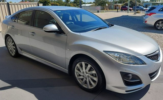 Used Mazda 6 GH1052 MY12 Touring Gympie, 2011 Mazda 6 GH1052 MY12 Touring Silver 5 Speed Sports Automatic Hatchback