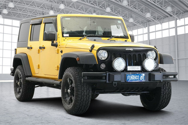 Used Jeep Wrangler JK MY2016 Unlimited Sport Victoria Park, 2016 Jeep Wrangler JK MY2016 Unlimited Sport Yellow 5 Speed Automatic Softtop
