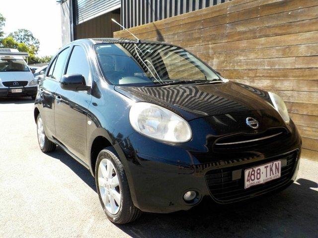 Used Nissan Micra K13 MY13 ST-L Labrador, 2013 Nissan Micra K13 MY13 ST-L Black 4 Speed Automatic Hatchback