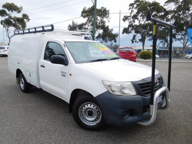 Used Toyota Hilux TGN16R MY12 Workmate 4x2 Wangara, 2012 Toyota Hilux TGN16R MY12 Workmate 4x2 White 5 Speed Manual Cab Chassis