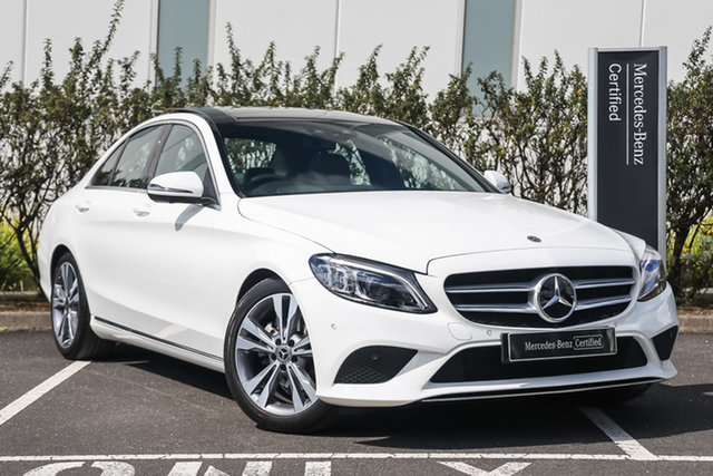 Certified Pre-Owned Mercedes-Benz C-Class W205 809MY C200 9G-Tronic Mulgrave, 2019 Mercedes-Benz C-Class W205 809MY C200 9G-Tronic Polar White 9 Speed Sports Automatic Sedan