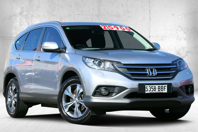 Used Honda CR-V RM MY14 DTi-L 4WD Valley View, 2014 Honda CR-V RM MY14 DTi-L 4WD Alabaster Silver 5 Speed Sports Automatic Wagon