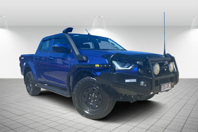 Used Isuzu D-MAX MY19 LS-M Crew Cab Hervey Bay, 2020 Isuzu D-MAX MY19 LS-M Crew Cab Blue 6 Speed Sports Automatic Utility