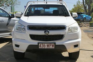 2012 Holden Colorado RG MY13 LX 4x2 White 5 Speed Manual Cab Chassis.
