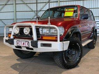 1998 Toyota Landcruiser FZJ80R GXL Red 4 Speed Automatic Wagon.